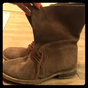 Suede Leather Steve Madden Lace Up Ankle Boots